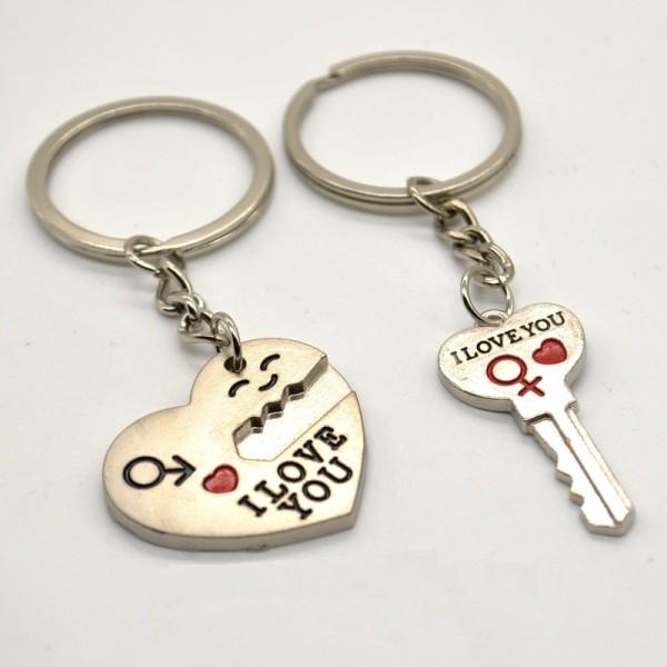 """Парный брелок """"Ключ к сердцу"""""""